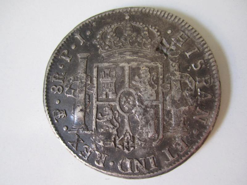 8 Reales 1821. Fernando VII. Potosí. Resellos chinos. Img_7020