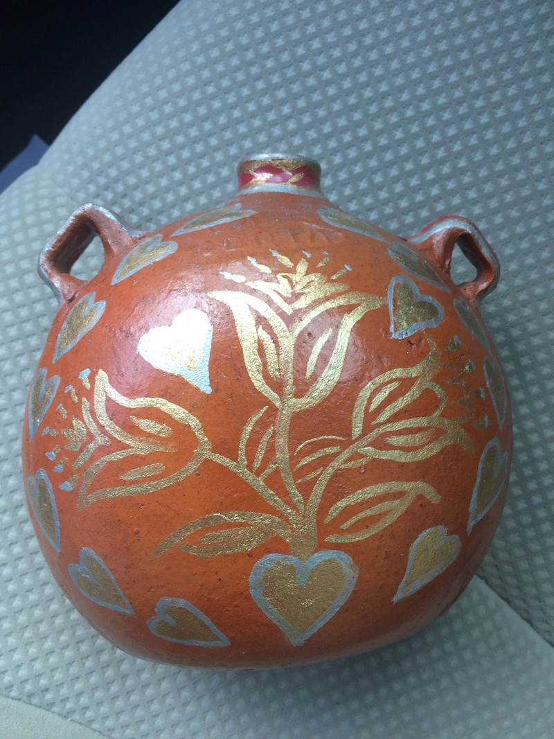 A flask or other drinking utensil Mexican Pottery 03610