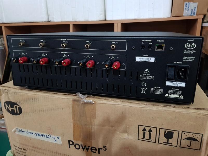 "NHT Power5 - 1000 watt Power Amp. (Free ""NHT Controller"" as a complimentary deck) 20180351"