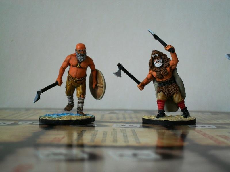 Chef de guerre Viking et guerriers fauves VV miniatures Sdc15211