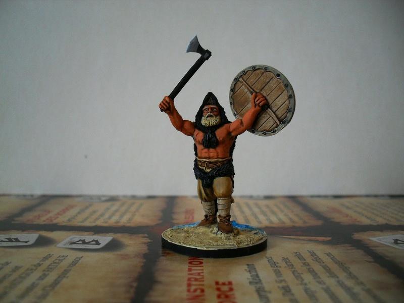 Chef de guerre Viking et guerriers fauves VV miniatures Sdc15212