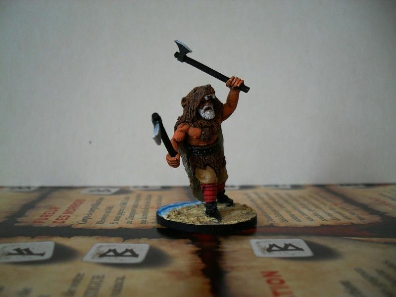 Chef de guerre Viking et guerriers fauves VV miniatures Sdc15215
