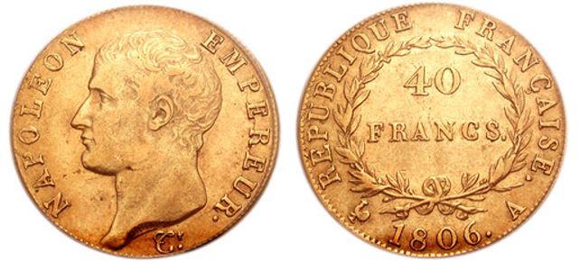 40 Francos Napoleon I Bonaparte 40_fra10
