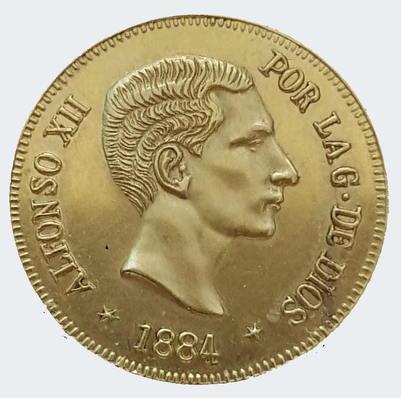 25 pesetas Alfonso XII 1884 ¿? Alfons10