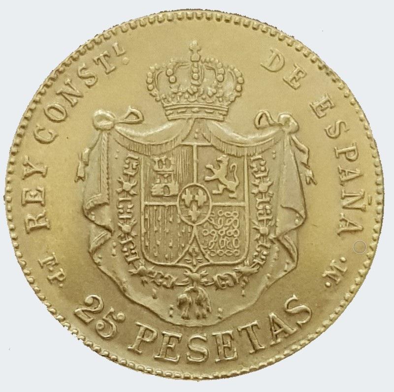 25 pesetas Alfonso XII 1884 ¿? Alfons11