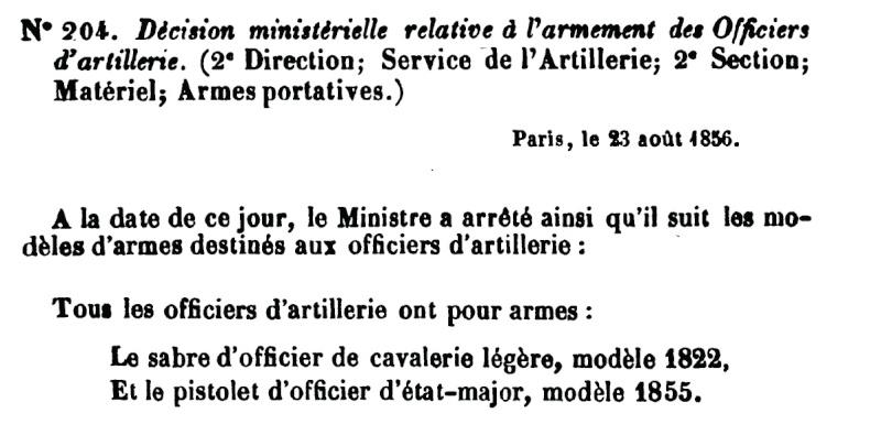 sabre canonnier 1829 185611