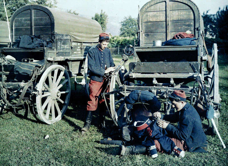Dragonnes de troupes montées IIIe République Aul-8610