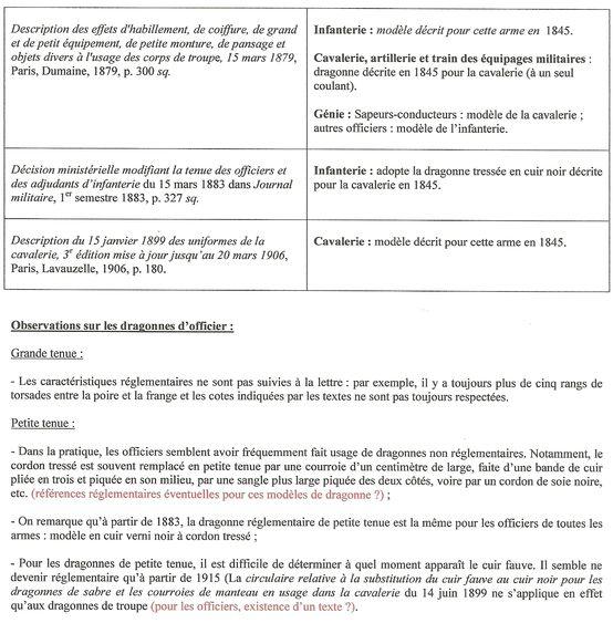 Dragonnes françaises  - 1ère partie : officiers de 1818 à 1914 Off411