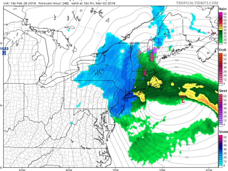 March 2nd Nor'easter Update Cap110