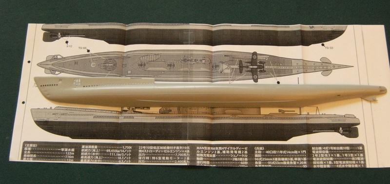 Sous-marin porte-avions japonais I-400 échelle 1/200° 3_i-4011