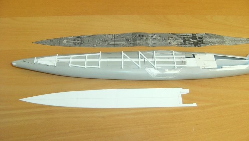 Sous-marin porte-avions japonais I-400 (scratch base Gato Trumpeter 1/200°) 41_i-410