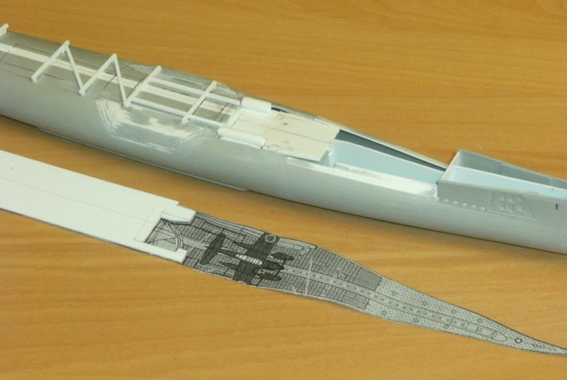 Sous-marin porte-avions japonais I-400 (scratch base Gato Trumpeter 1/200°) 46_i-410