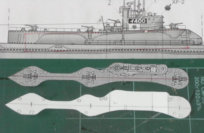 Sous-marin porte-avions japonais I-400 échelle 1/200° 53_i-410