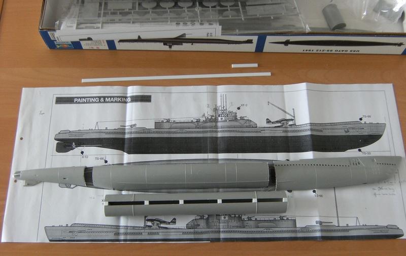Sous-marin porte-avions japonais I-400 (scratch base Gato Trumpeter 1/200°) 5_i-4010