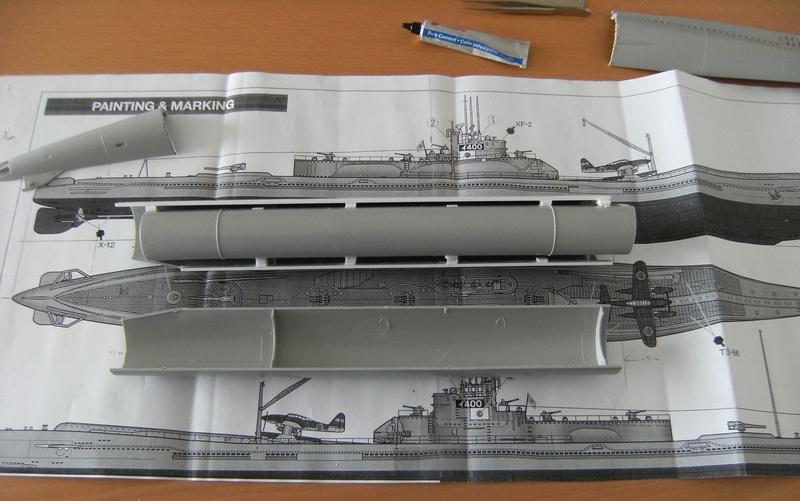 Sous-marin porte-avions japonais I-400 échelle 1/200° 6_i-4010