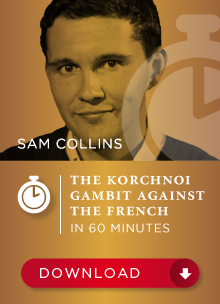 Sam Collins: The Korchnoi Gambit against the French Cover10