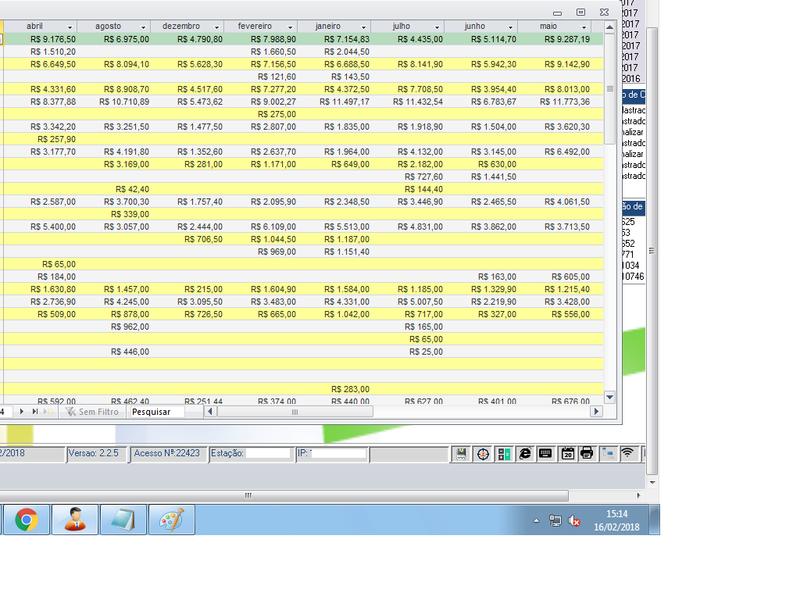 Criar um banco de dados no access com separação de mês e mês e acumulado Refcru12