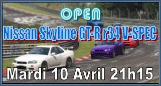 Open Nissan Skyline GT-R r34 V Spec