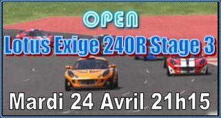 Open Lotus Exige 240 R Stage 3
