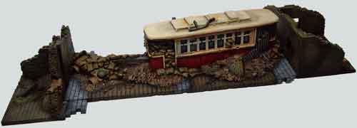 20mm Tram in resin Tramde10