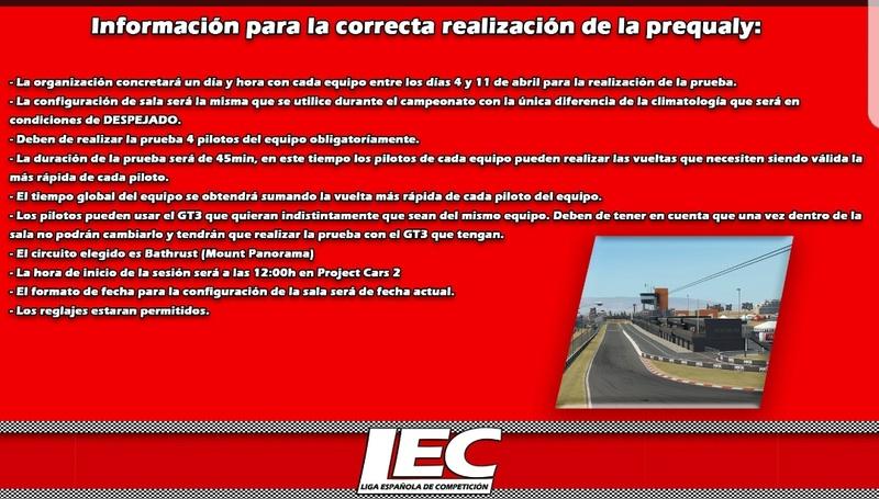 LIGA NACIONAL ESPAÑOLA DE ESCUDERIAS PROJECT CARS 2 Screen35