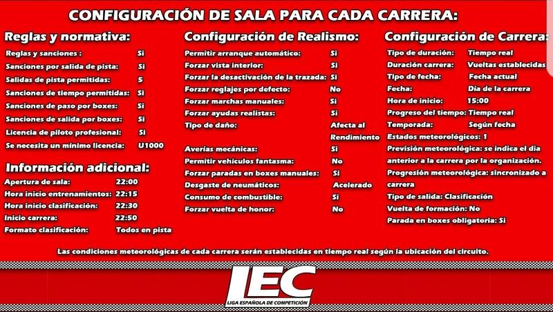 LIGA NACIONAL ESPAÑOLA DE ESCUDERIAS PROJECT CARS 2 Screen36