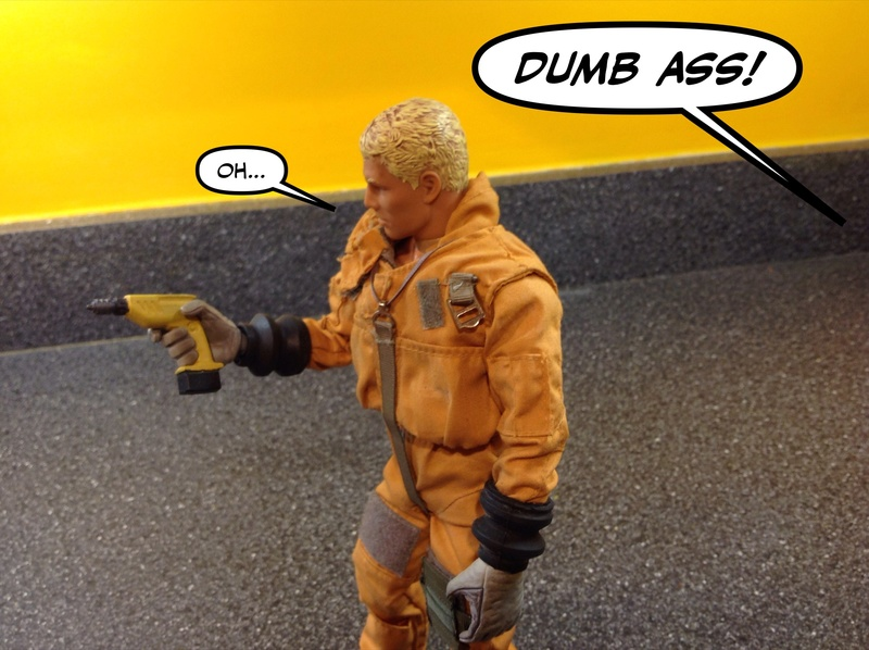 Marigold Space Mechanic.....when you have no other options. Humor. Img_3111