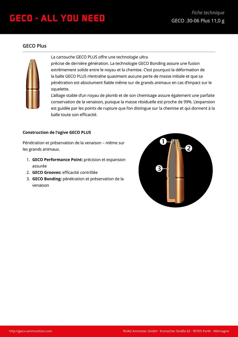 Encore et toujours, munitions 30-06  Geco-311