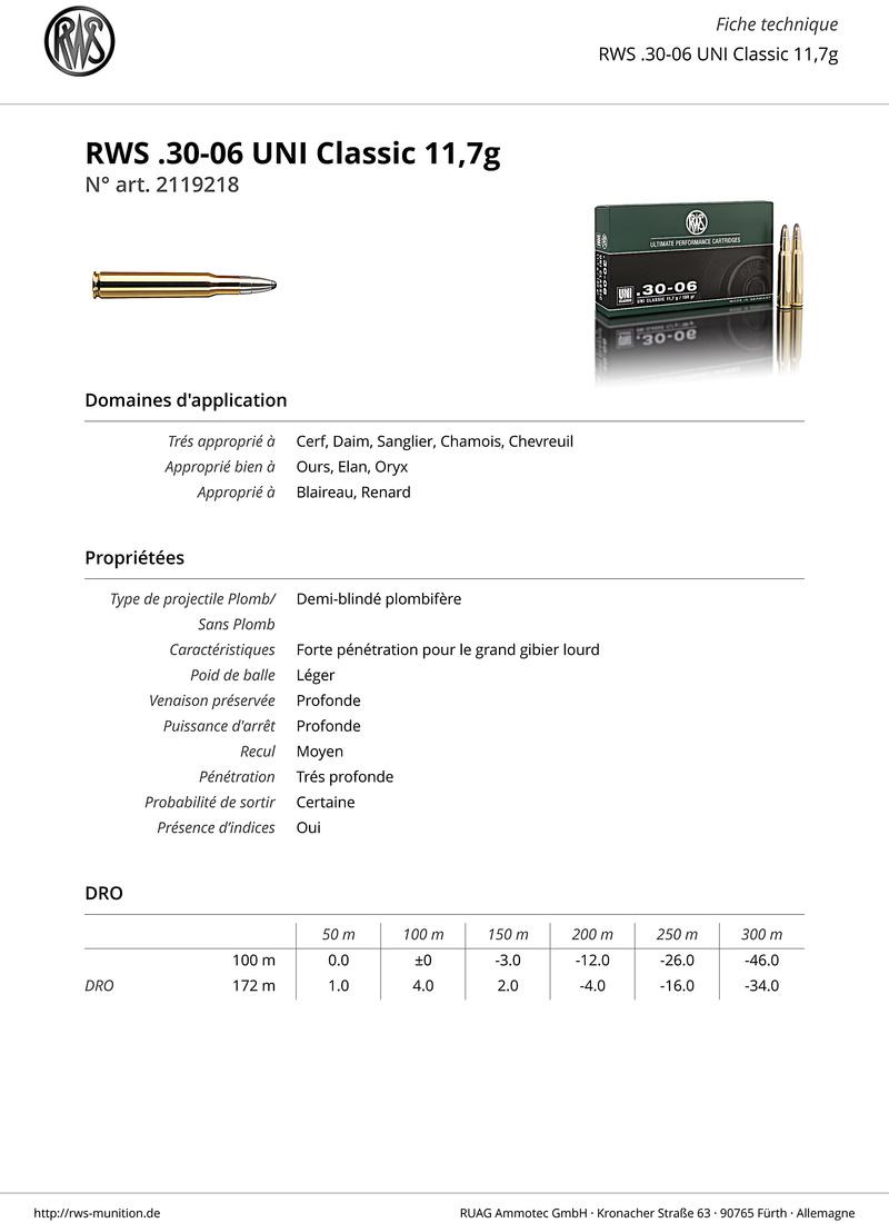 Encore et toujours, munitions 30-06  Rws-3010