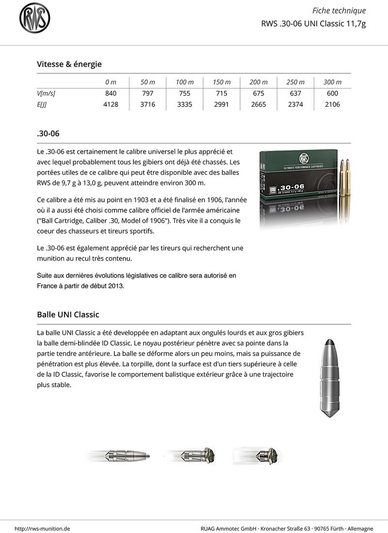 Encore et toujours, munitions 30-06  Rws-3011