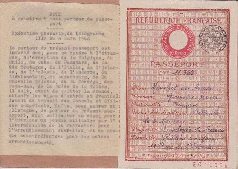 Germaine-Jeanne MONCHOT, née ARCADE 0211