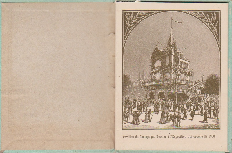 Champagne MERCIER - Guide offert aux visiteurs de l'Exposition de 1900 à Paris 0213