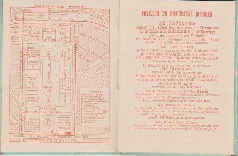 Champagne MERCIER - Guide offert aux visiteurs de l'Exposition de 1900 à Paris 0313