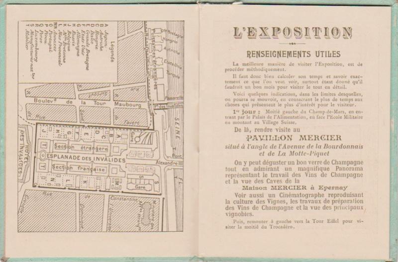 Champagne MERCIER - Guide offert aux visiteurs de l'Exposition de 1900 à Paris 0413