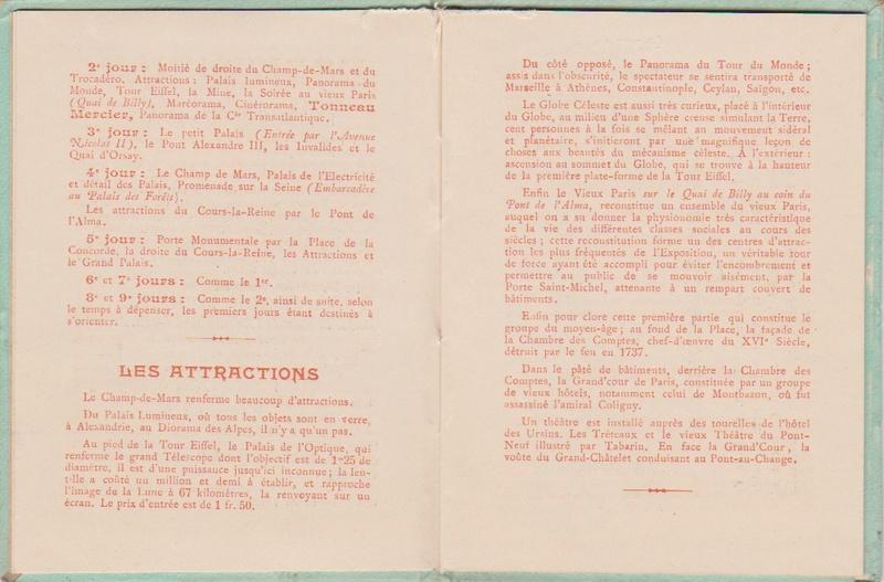 Champagne MERCIER - Guide offert aux visiteurs de l'Exposition de 1900 à Paris 0512