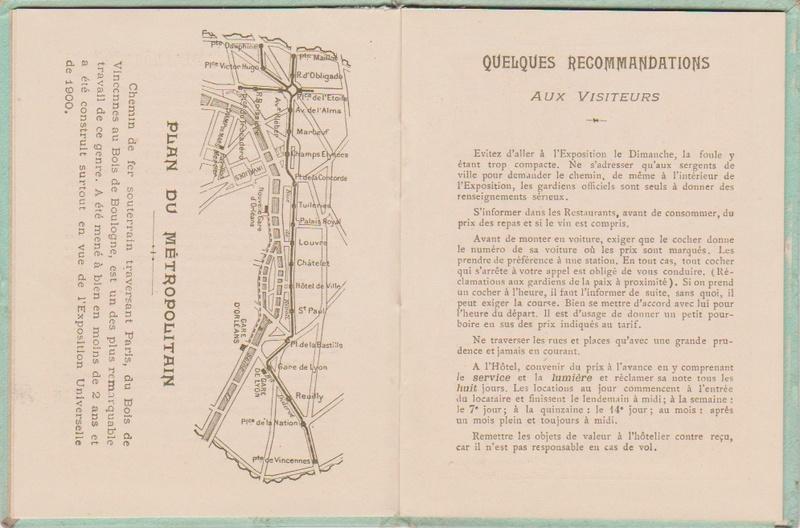 Champagne MERCIER - Guide offert aux visiteurs de l'Exposition de 1900 à Paris 0612