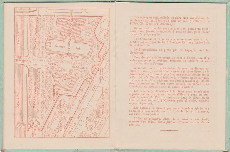 Champagne MERCIER - Guide offert aux visiteurs de l'Exposition de 1900 à Paris 0712