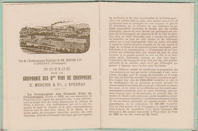 Champagne MERCIER - Guide offert aux visiteurs de l'Exposition de 1900 à Paris 1011