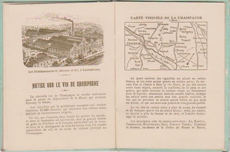 Champagne MERCIER - Guide offert aux visiteurs de l'Exposition de 1900 à Paris 1211