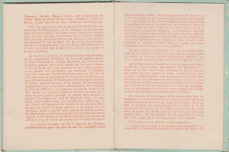 Champagne MERCIER - Guide offert aux visiteurs de l'Exposition de 1900 à Paris 1311