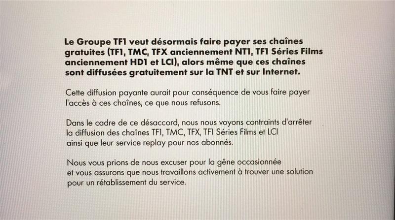 Canal+ a coupé le signal des chaînes de TF1 Macgpi10