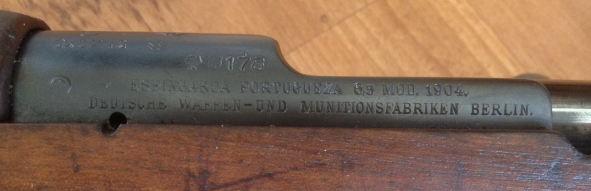 Mauser Portugais évent Sans-t10