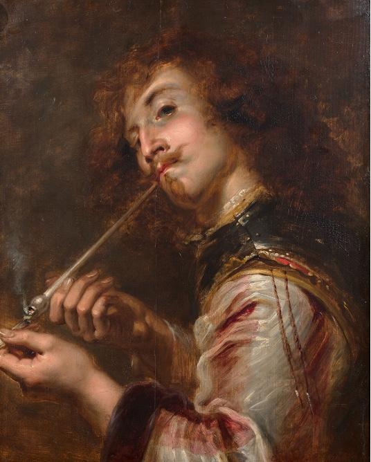 Tableau de fumeur de pipe  8cb44310