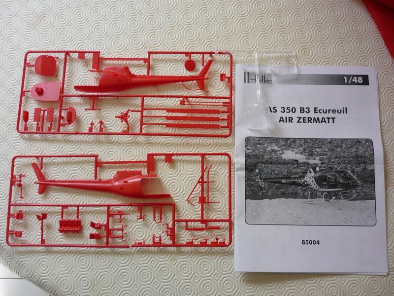 AEROSPATIAL AS 350 ECUREUIL AIR ZERMATT 1/48ème Réf 85004 Edition limité P1030816