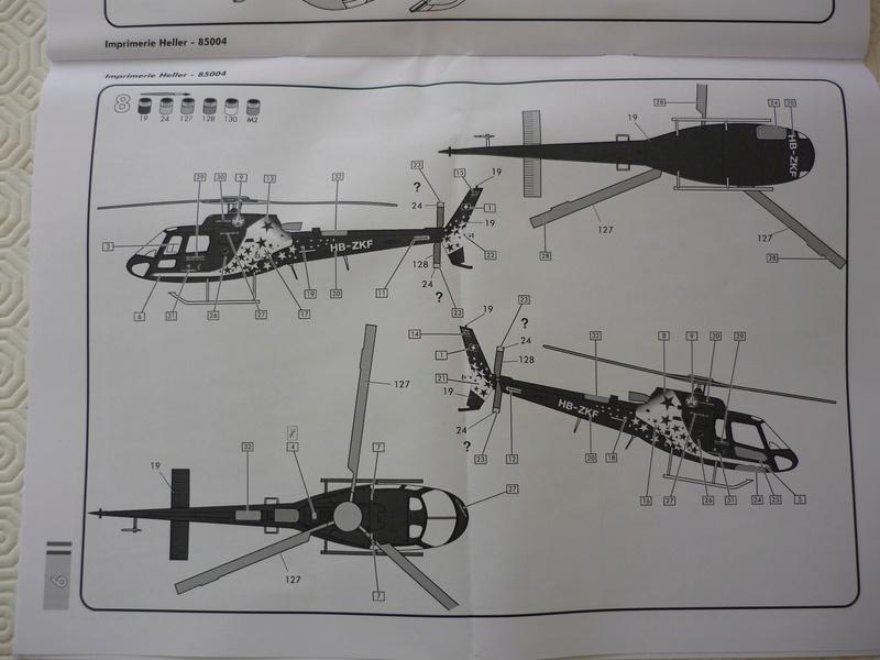 AEROSPATIAL AS 350 ECUREUIL AIR ZERMATT 1/48ème Réf 85004 Edition limité P1030817