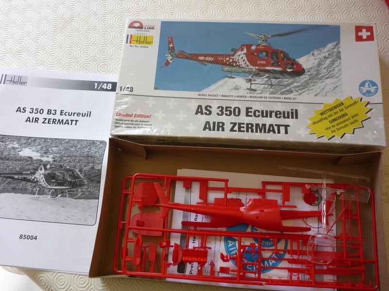 AEROSPATIAL AS 350 ECUREUIL AIR ZERMATT 1/48ème Réf 85004 Edition limité P1030818