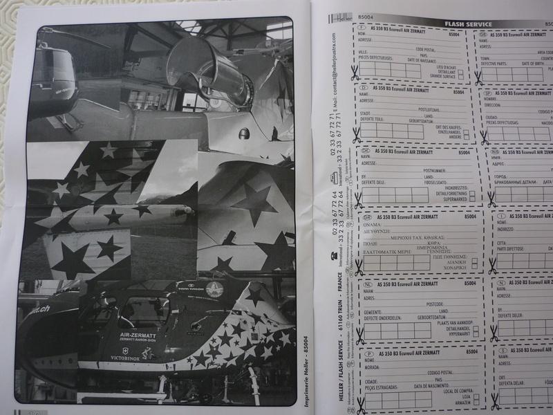 AEROSPATIAL AS 350 ECUREUIL AIR ZERMATT 1/48ème Réf 85004 Edition limité P1030819