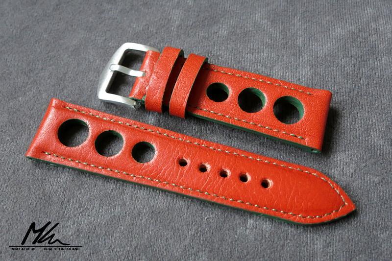Bracelet de montres type racing ou rallye Orange10