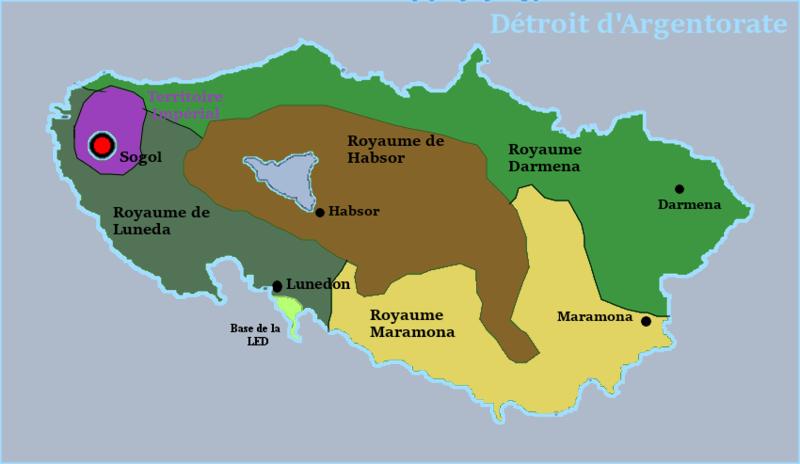 Traité avec l'Empire du Gwangua Carte210