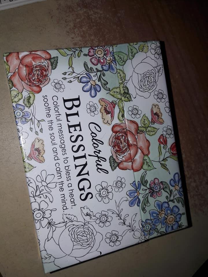 petites cartes a colorier Colorful Blessings 34752110